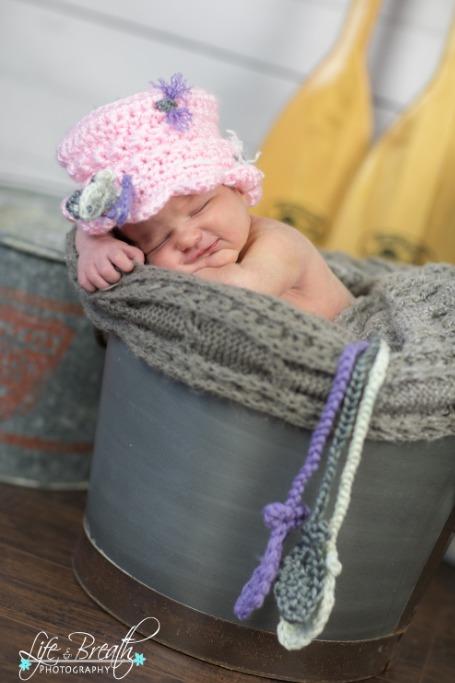 newborn photography props bucket fishing