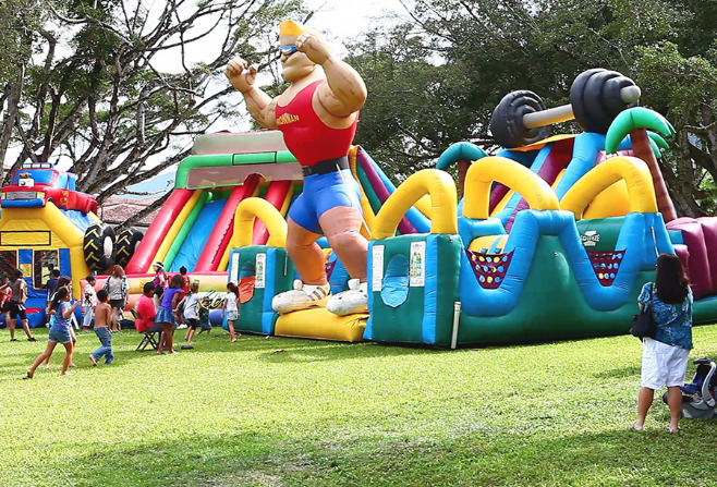 Children and bounce rides
