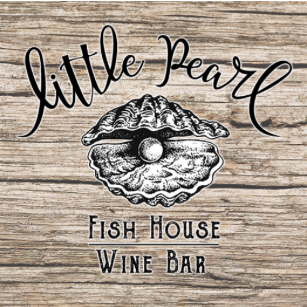 wonderdog studios logo design for little pearl fish house and wine bar