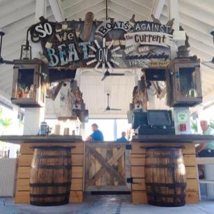 rum row pool bar at the gates hotel bar details, wonderdog studios art direction, bar design
