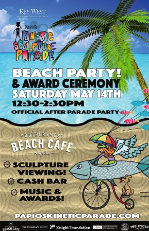 Marky Pierson Wonderdog Studios Design - Key West Art & Historical Society: Kinetic Sculpture Parade Beach Party Poster
