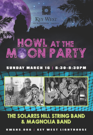 Marky Pierson Wonderdog Studios Design - Key West Art & Historical Society: Howl at the Moon Party