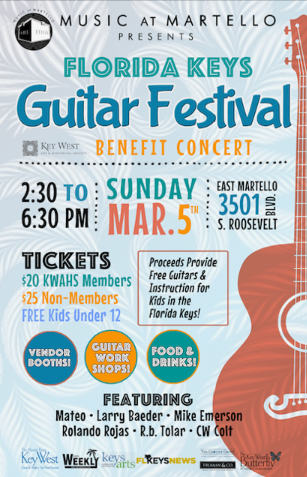 Marky Pierson Wonderdog Studios Design - Key West Art & Historical Society: Florida Keys Guitar Festival Poster