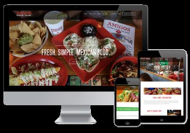 amigos tortilla bar, amigos key west, amigos st. pete, wonderdog studios, menu styling, website design, web design