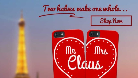 Mr and Mrs Claus iPhone Cases