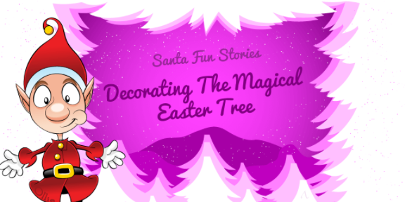Decorating The Magical Easter Tree Image