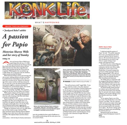 Konk Life Article on Stanley Papio