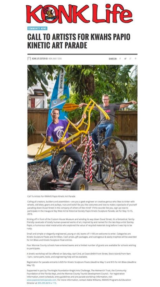 Konk Life Online Article Kinetic Sculpture Artists
