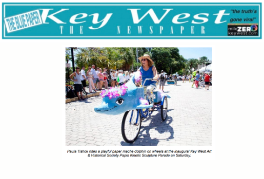 Blue Paper Clipping Art Bike