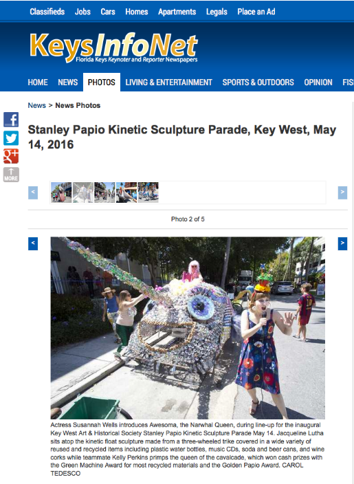 Keynoter Web Article Stanley Papio Kinetic Sculpture Parade